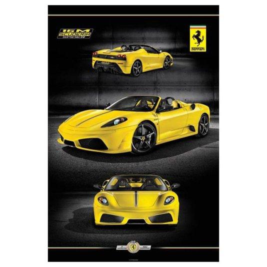 Poster Ferrari Amarela 16m Scuderia 60x90cm com/sem Moldura