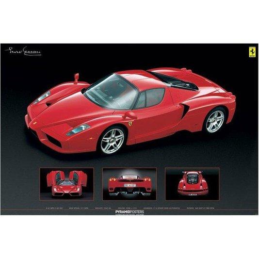 Poster Ferrari Enzo Vermelha com/sem Moldura 90x60cm