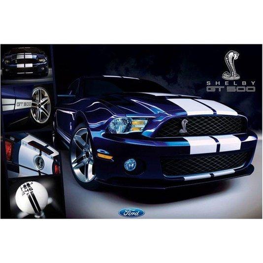 Poster Ford Mustang Shelby GT500 90x60cm com/sem Moldura
