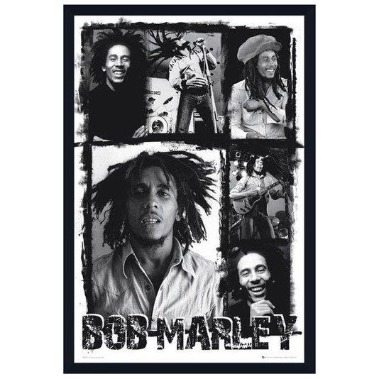 Poster Ídolo Bob Marley em Preto e Branco sem Vidro 60x90cm