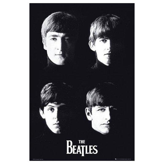 Poster Ídolos The Beatles em Preto e Branco 60x90cm com/sem Moldura