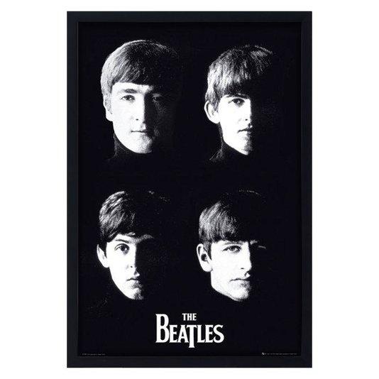 Poster Ídolos The Beatles em Preto e Branco sem Vidro 60x90cm