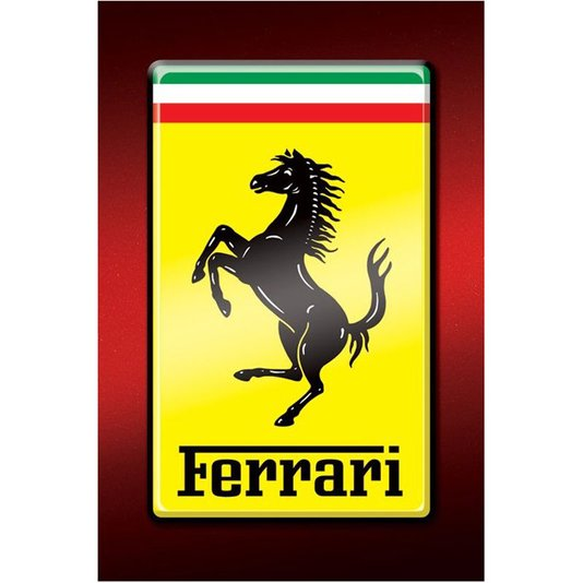 Poster Logo Ferrari 60x90cm com/sem Moldura