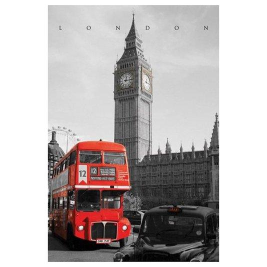 Poster London England Red Bus 60x90cm com/sem Moldura