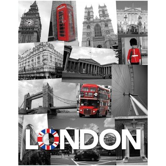 Poster London Pontos Turísticos 40x50cm com/sem Moldura