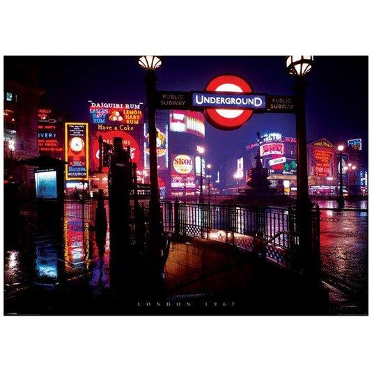 Poster Londres 1967 Entrada para Estação de Metrô 140x100cm com/sem Moldura