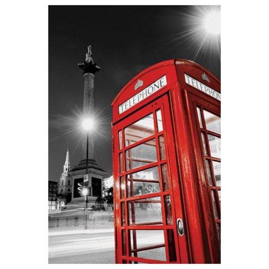 Poster Londres Cabine Telefônica Vermelha 60x90cm com/sem Moldura