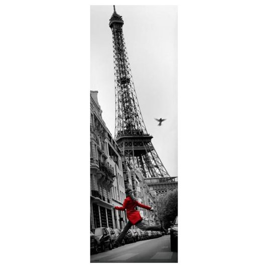 Poster Londres Torre Eiffel La Veste Rouge 53x158cm com/sem Moldura