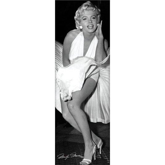 Poster Marilyn Monroe e seu Vestido Voando 53x158cm com/sem Moldura