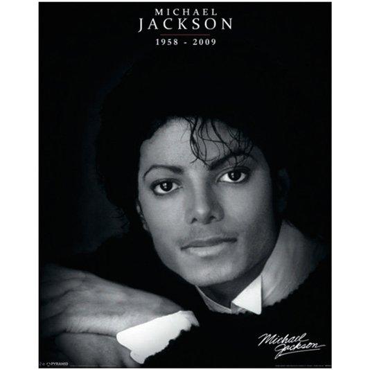 Poster Michael Jackson 40x50cm com/sem Moldura