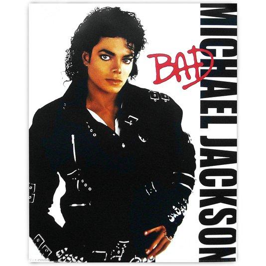 Poster Michael Jackson Bad 40x50cm com/sem Moldura