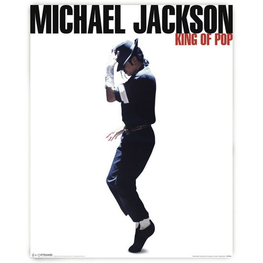 Poster Michael Jackson Moonwalk 40x50cm com/sem Moldura