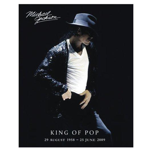 Poster Michael Jackson o Rei do Pop 40x50cm com/sem Moldura