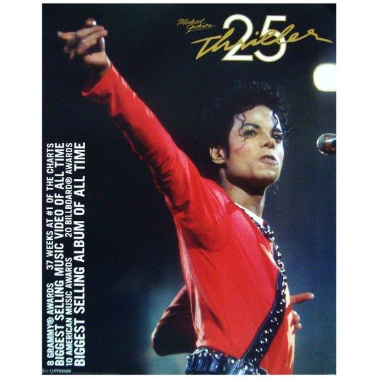 Poster Michael Jackson Thriller 40x50cm com/sem Moldura