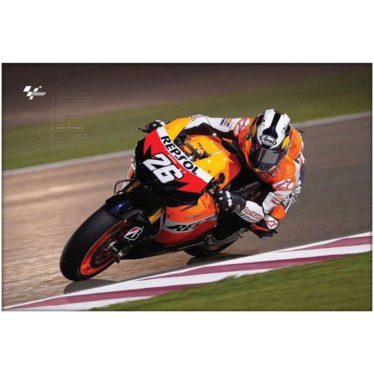 Poster Moto GP Dani Pedrosa 90x60cm com/sem Moldura