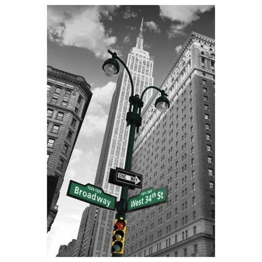 Poster Nova York Street Signs 60x90cm com/sem Moldura