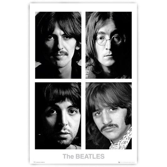 Poster Os Beatles White Album em Preto e Branco - 60x90cm