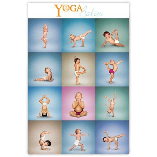 Poster para Quadros Bebês Praticando Yoga 60x90cm
