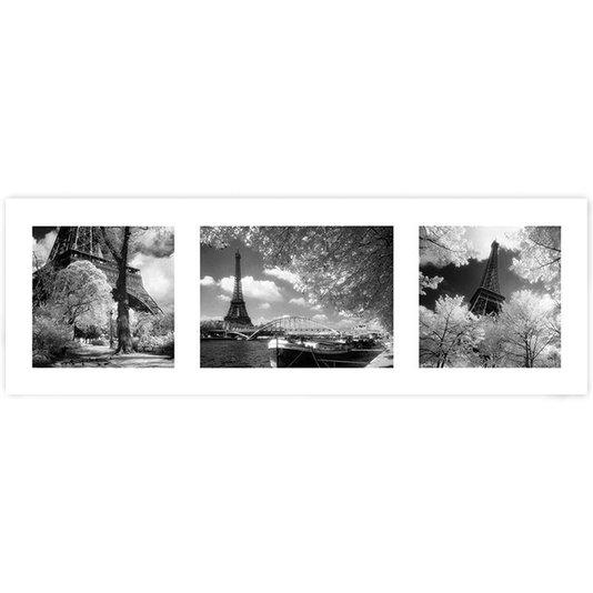 Poster para Quadros Cidades Paris Triptych 90x30cm