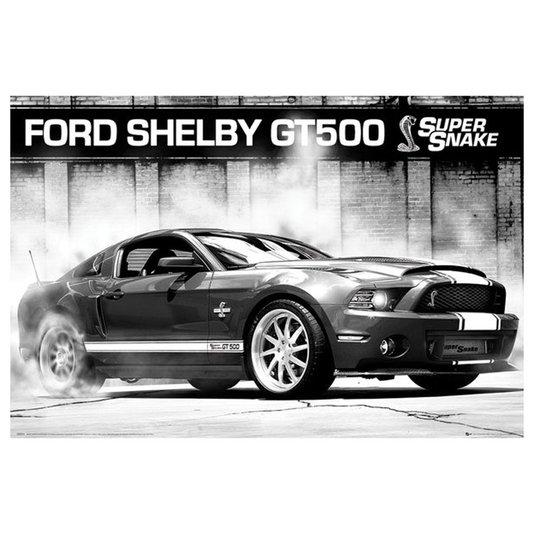 Poster para Quadros Ford Shelby GT500 Burnout 90x60cm