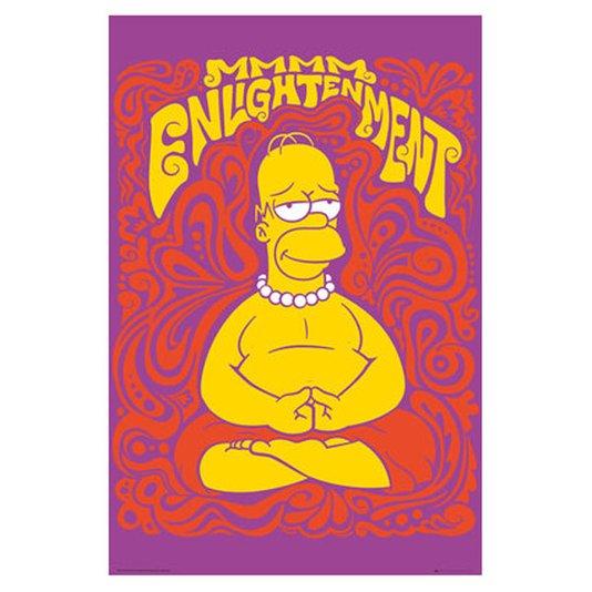 Poster para Quadros Homer Simpsom Meditando 60x90cm