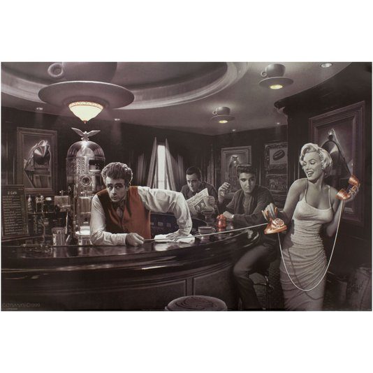 Poster para Quadros Java Dreams Estrelas de Hollywood 90x60cm
