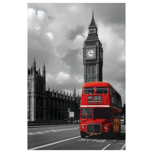 Poster para Quadros Londres Red Bus 60x90cm