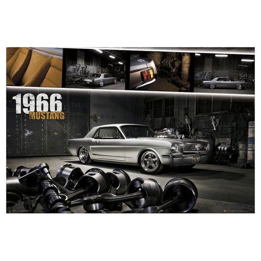 Poster para Quadros Mustang Ano 1966 Tamanho 90x60cm