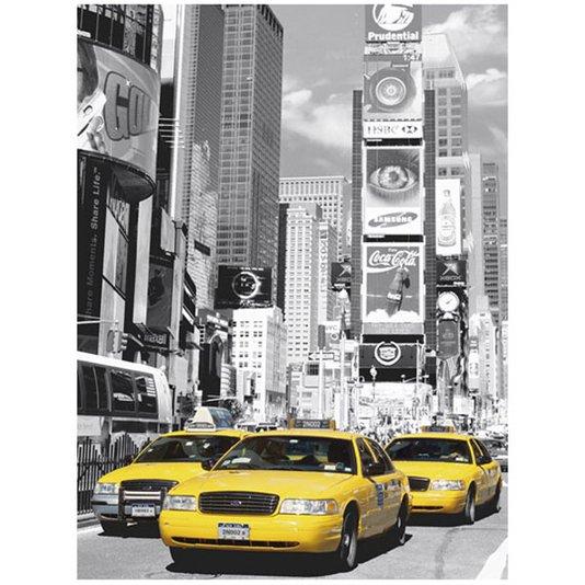 Poster para Quadros Táxis Amarelos de New York Times Square 60x80cm