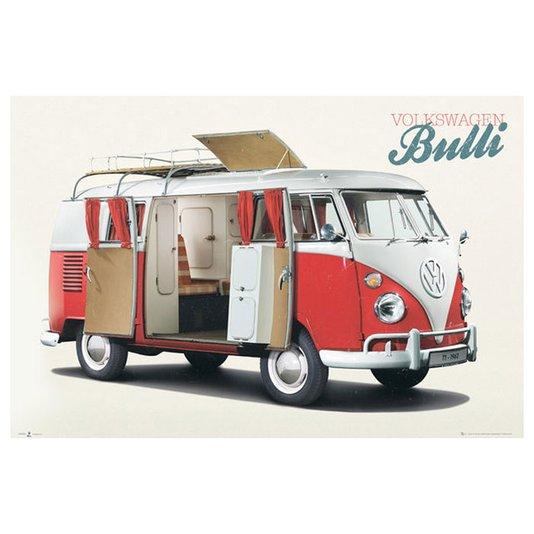 Poster para Quadros Volkswagen Kombi Bulli 90x60cm