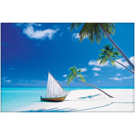 Poster Paraíso Praia com Água Cristalina 90x60cm com/sem Moldura
