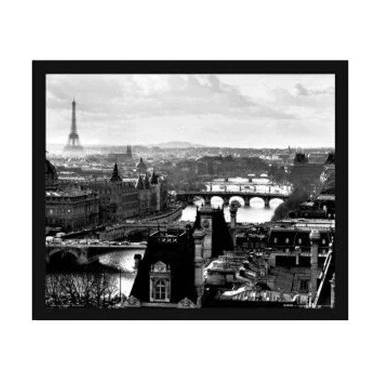 Poster Paris França Torre Eiffel em Preto e Branco sem Vidro 50x40cm