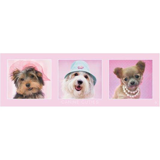 Poster Pets Cachorros 90x30cm com/sem Moldura