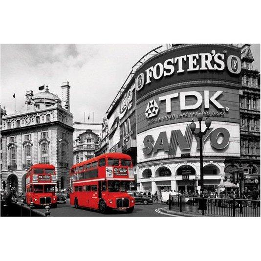 Poster Piccadilly Circus Londres 90x60cm com/sem Moldura