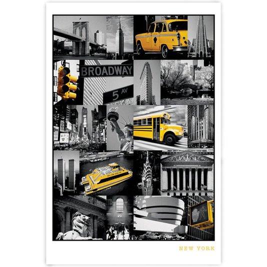 Poster Pontos Turísticos de Nova York 60x90cm com/sem Moldura