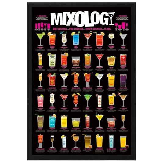 Poster Receitas de Drinks 60x90cm com/sem Moldura