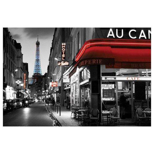 Poster Rua de Paris Torre Eiffel 90x60cm com/sem Moldura