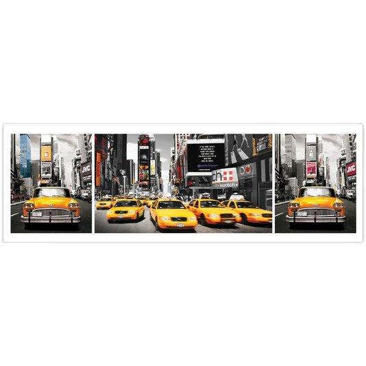 Poster Táxi Amarelo de New York 158x53cm com/sem Moldura