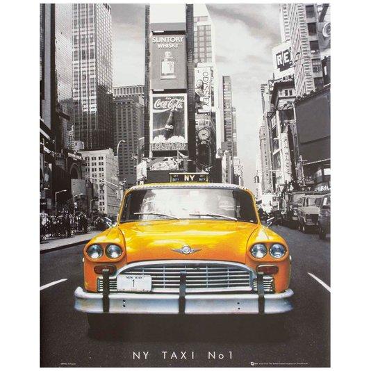 Poster Táxi Amarelo de New York Numero 1 Tamanho 40x50cm com/sem Moldura