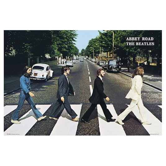 Poster The Beatles Abbey Road 90x60cm com/sem Moldura