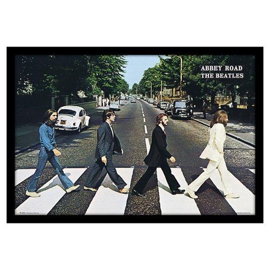 Poster The Beatles Abbey Road 90x60cm com/sem Moldura