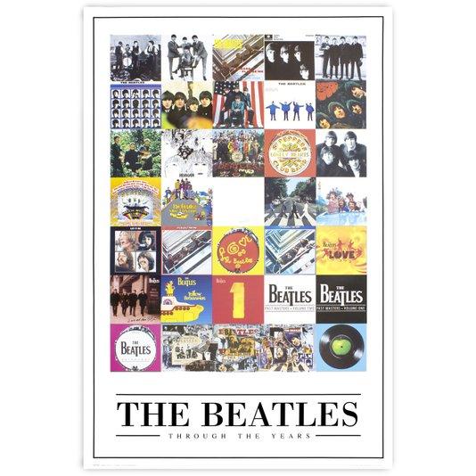 Poster The Beatles Álbuns ao Longo da Carreira 60x90cm com/sem Moldura