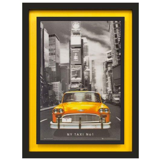 Quadro 3D Táxi Amarelo Nº 1 de New York 65x85cm