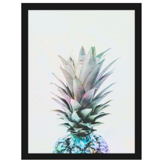Quadro Abacaxi Decorativo Pop Efeito Negativo 30x40cm