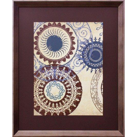 Quadro Abstrato Decorativo Étnico Colorido 70x80cm