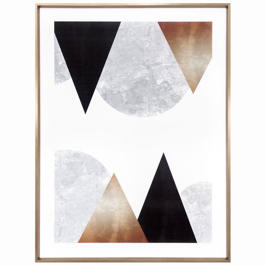 Quadro Abstrato Geométrico Escandinavo 60x80cm