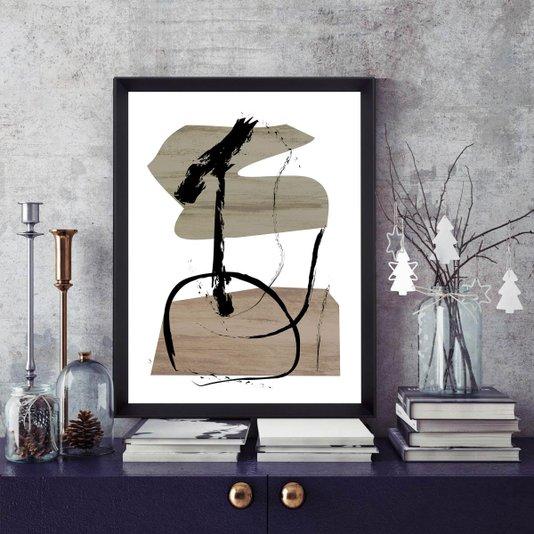 Quadro Abstrato Moderno Terroso II - 65x85cm