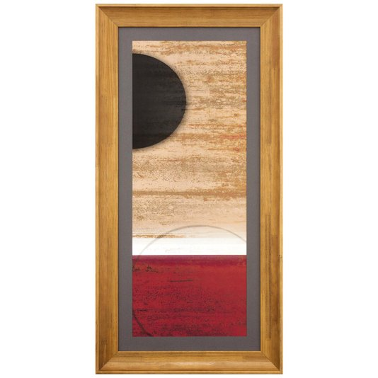 Quadro Abstrato Personalizado Meia Lua 45x90cm