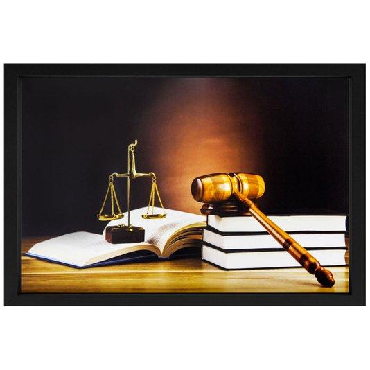 Quadro Advocacia Símbolo da Justiça 50x35cm