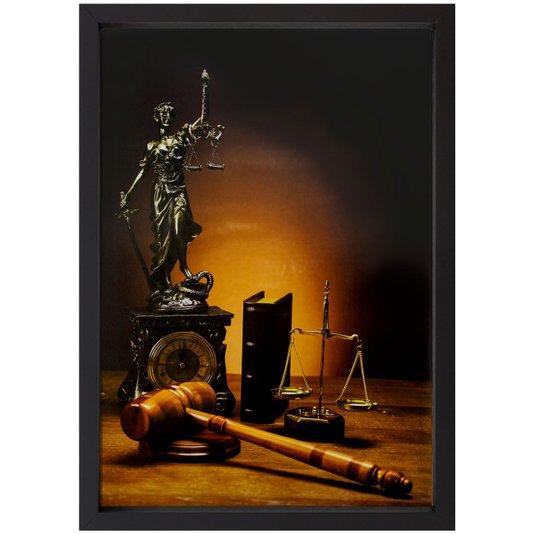 Quadro Advocacia Símbolo da Justiça 60x90cm